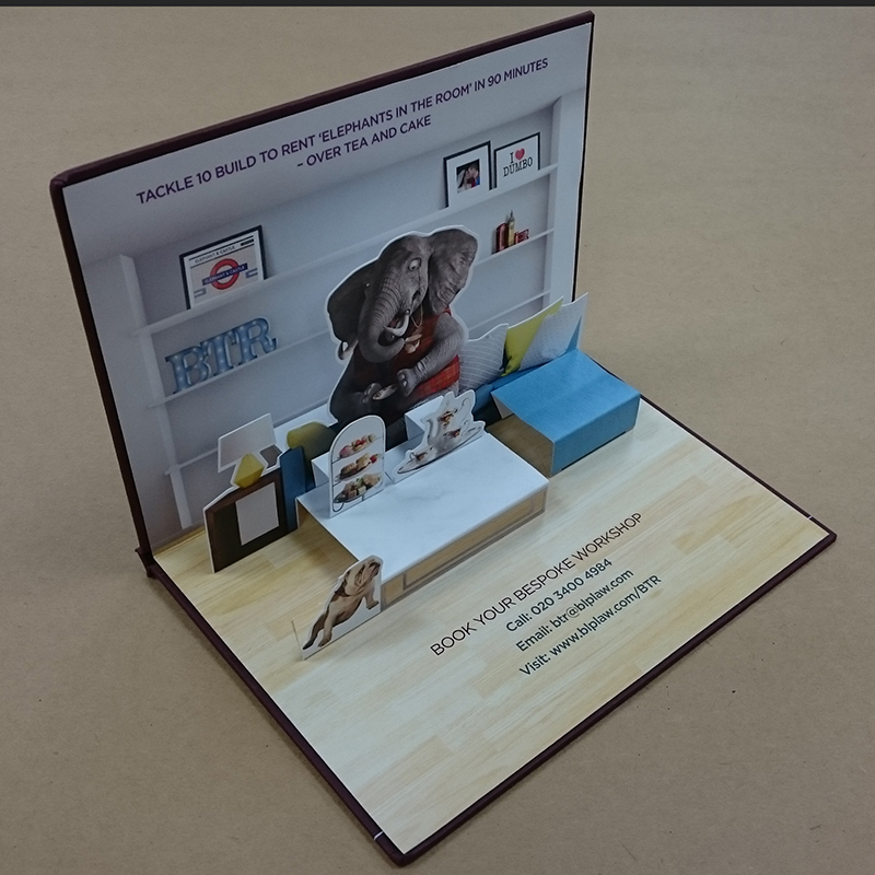 PAPER OVER BOARD POP UP MAILER