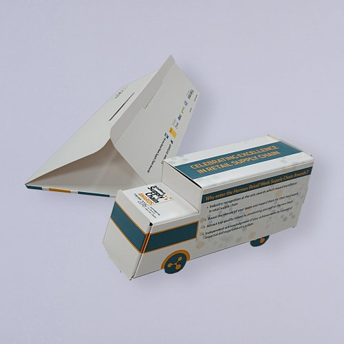 Pop up lorry in board envelope