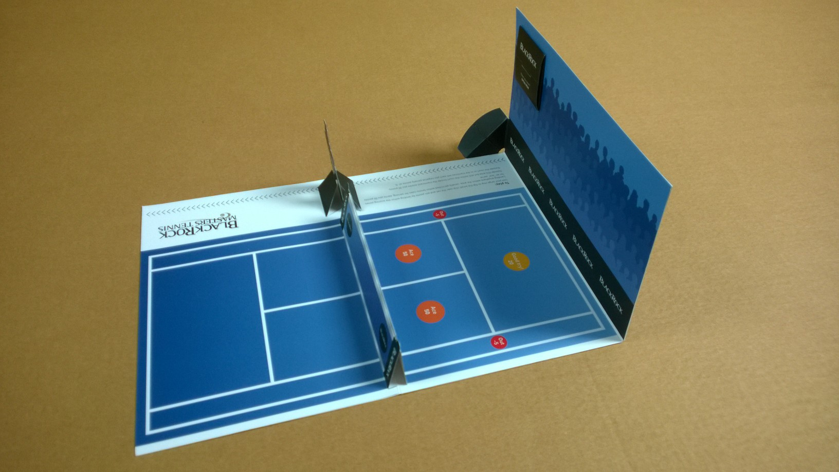 Tennis Pop Up Card